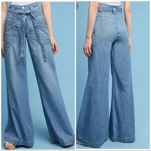 pilcro and the letterpress high rise flare pant 32